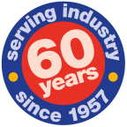 60 years sticker-1